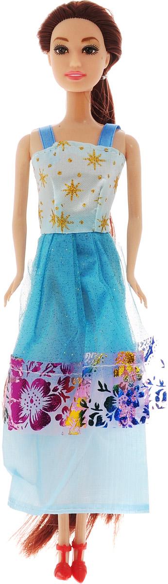 ABtoys Кукла Модница цвет платья голубой