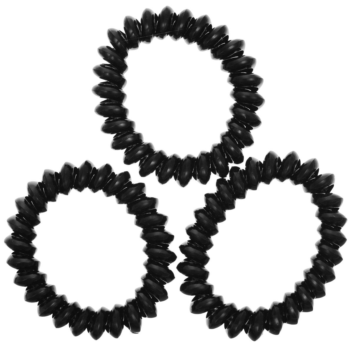 Резинка для волос Mitya Veselkov Strong Black, цвет: черный, 3 шт. ELASTIC-BR-BLACK