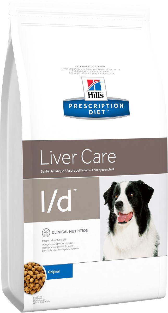 Корм сухой диетический Hills L/D для собак, для лечения заболеваний печени, 2 кг8660Сухой корм Hills L/D - полноценный диетический рацион для собак для поддержания функции печени при хронической недостаточности и для сокращения содержания меди в печени. Содержит оптимальный уровень протеинов высокой биологической ценности, высокий уровень незаменимых жирных кислот, углеводы, улучшающие пищеварение, и пониженный уровень меди. Монодиета. Не требует дополнений. Состав: зерновые злаки, масла и жиры, экстракты растительного белка, яйцо и его производные, производные растительного происхождения, семена, мясо и пептиды животного происхождения, минералы. Источник белка: мука из соевых бобов, сухое цельное яйцо, гидролизат белка, мука из кукурузного глютена. Источник углеводов: кукуруза. Анализ: белок 15,8%, жир 22,3%, незаменимые жирные кислоты 4,8%, клетчатка 4,9%, зола 4,3%, кальций 0,88%, фосфор 0,69%, натрий 0,19%, калий 0,84%; на кг: медь 2,3 мг, витамин E 600 мг, витамин С 70 мг, Бета-каротин 1,5 мг, таурин 645...