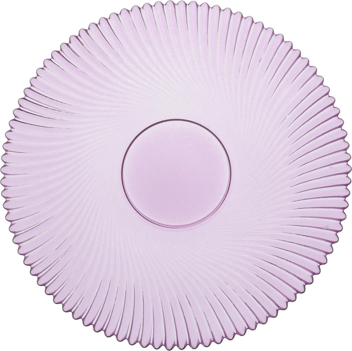 Тарелка NiNaGlass Альтера, цвет: сиреневый, диаметр 21 см83-066-ф210 СИРТарелка NiNaGlass Альтера выполнена из высококачественного стекла и оформлена красивым рельефным узором. Тарелка идеальна для подачи вторых блюд, а также сервировки закусок, нарезок, десертов и многого другого. Она отлично подойдет как для повседневных, так и для торжественных случаев. Такая тарелка прекрасно впишется в интерьер вашей кухни и станет достойным дополнением к кухонному инвентарю.