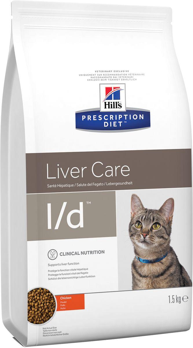 Корм сухой диетический Hills L/D для кошек, для лечения заболеваний печени, 1,5 кг8695Сухой корм Hills L/D - полноценный диетический рацион для поддержания функции печени при хронической недостаточности печени у кошек. Содержит оптимальный уровень протеинов высокой биологической ценности и высокий уровень незаменимых жирных кислот. Специальный баланс питательных веществ, дополненный L- карнитином и антиоксидантами, для поддержания и восстановления функции печени. Монодиета, не требует дополнений. Рекомендуемая продолжительность диетотерапии: первоначально до 6 месяцев. Состав: зерновые злаки, мясо и пептиды животного происхождения, масла и жиры, экстракты растительного белка, яйцо и его производные, семена, производные растительного происхождения, минералы. Источник белка: мука из мяса домашней птицы, мука из кукурузного глютена, сухое цельное яйцо. Анализ: белок 29%, жир 21,4%, незаменимые жирные кислоты 4,2%, клетчатка 1,7%, зола 5%, кальций 0,84%, фосфор 0,66%, натрий 0,22%, калий 0,82%, магний 0,08%; на кг: медь 6,1...