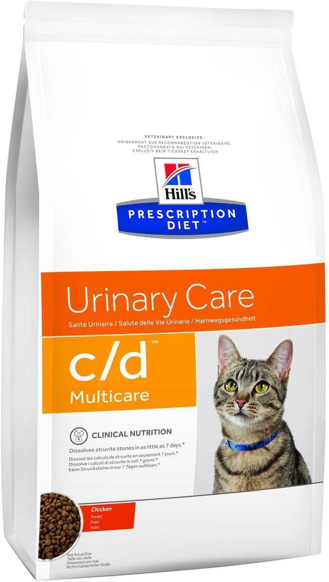 Корм сухой диетический Hills C/D для кошек, профилактика МКБ и струвитов, с курицей, 10 кг9044Сухой корм для кошек Hills C/D - полноценный диетический рацион для кошек. Рекомендован при урологическом синдроме кошек склонных к набору веса (для снижения вероятности рецидивов струвитного уролитиаза). Рацион обладает закисляющими мочу свойствами и содержит умеренный уровень магния. Растворяет струвитные уролиты уже через 14 дней и предотвращает рецидивы заболевания. - Превосходный вкус понравится вашей кошке. - Супер Антиоксидантная формула повышает устойчивость клеток организма к воздействию свободных радикалов. Рекомендации по кормлению: суточная норма кормления указана на упаковке и должна быть расчитана в соответствии с размером животного, чтобы поддерживать оптимальный вес. Суточную норму можно разделить на 2 и более кормлений в день. Рекомендуемая продолжительность диетотерапии: до 6 месяцев. Обеспечьте питомца постоянным свободным доступом к свежей воде. Состав: зерновые злаки, мясо и пептиды животного происхождения,...
