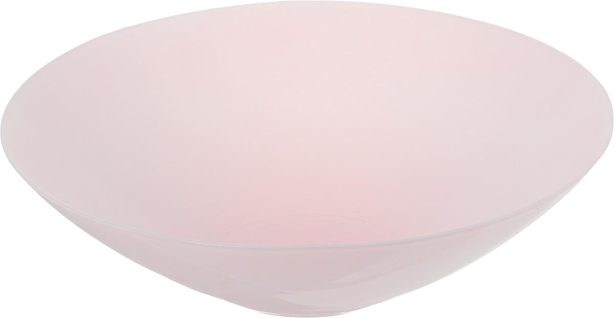 Салатник NiNaGlass Голландия, цвет: светло-розовый, диаметр 25 см83-012-Ф25 РОЗСалатник NiNaGlass Голландия выполнен из высококачественного матового стекла. Салатник идеален для сервировки салатов, овощей, ягод, фруктов, гарниров и многого другого. Он отлично подойдет как для повседневных, так и для торжественных случаев. Такой салатник прекрасно впишется в интерьер вашей кухни и станет достойным дополнением к кухонному инвентарю. Диаметр салатника (по верхнему краю): 25 см. Высота стенки: 7,5 см.