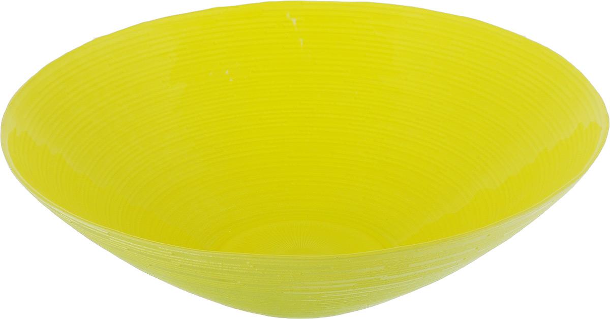 Салатник NiNaGlass Риски, цвет: желто-зеленый, диаметр 25,5 см83-012-Ф25 Р-Ж-ЗСалатник NiNaGlass Риски выполнен из высококачественного стекла. Внешние стенки оформлены рельефным узором. Салатник идеален для сервировки салатов, овощей, ягод, фруктов, гарниров и многого другого. Он отлично подойдет как для повседневных, так и для торжественных случаев. Такой салатник прекрасно впишется в интерьер вашей кухни и станет достойным дополнением к кухонному инвентарю. Диаметр салатника (по верхнему краю): 25,5 см. Высота стенки: 7,5 см.