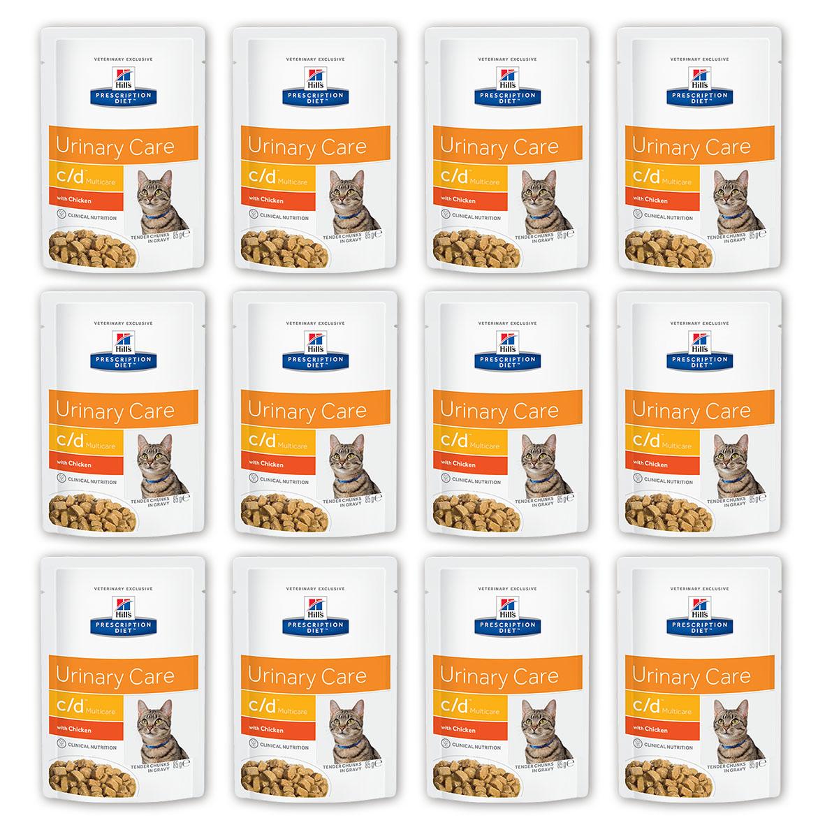 Консервы для кошек Hills Prescription Diet. C/D, для профилактики мочекаменной болезни, с курицей, 85 г, 12 шт3406_12Консервы для кошек Hills Prescription Diet. C/D рекомендуются на начальном этапе у кошек с любым типом заболеваний нижних отделов мочевыводящих путей, в том числе кристаллурией и/или уролитиазом любого генеза, уретральными пробками и идиопатическим циститом кошек. Подходят для долговременного использования для кошек, склонных к: - образованию струвитных кристаллов и уролитов, кристаллов и уролитов кальция оксалата и кальция фосфата (снижение появления и частоты рецидивов); - формированию уретральных пробок (почти всегда вызванных кристаллами струвита или кальция фосфата); - идиопатическому циститу (в этом случае особенно рекомендуется к применению консервированный рацион или пауч Hills Prescription Diet c/d Multicare Feline). Не рекомендуется: - Котятам. - Беременным и кормящим кошкам. - Кошкам, получающим вещества, закисляющие мочу. Дополнительная информация: - Клинически доказано: растворяет струвиты...