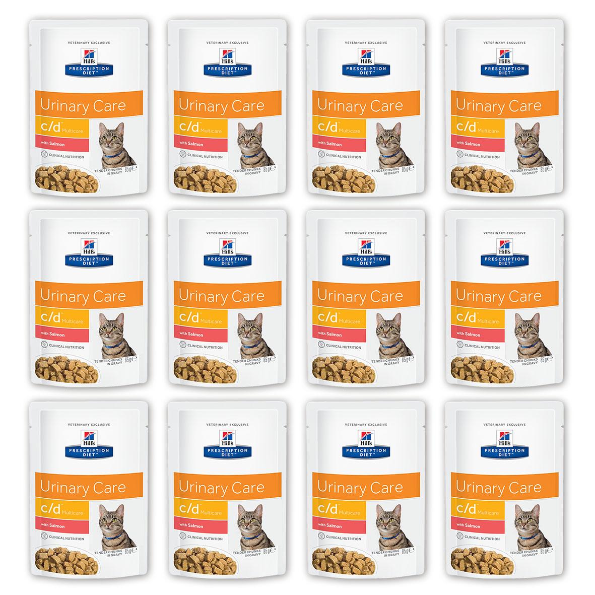 Консервы для кошек Hills Prescription Diet. C/D, для профилактики мочекаменной болезни, с лососем, 85 г, 12 шт3408_12Консервы для кошек Hills Prescription Diet. C/D рекомендуются на начальном этапе у кошек с любым типом заболеваний нижних отделов мочевыводящих путей, в том числе кристаллурией и/или уролитиазом любого генеза, уретральными пробками и идиопатическим циститом кошек. Подходят для долговременного использования для кошек, склонных к: - образованию струвитных кристаллов и уролитов, кристаллов и уролитов кальция оксалата и кальция фосфата (снижение появления и частоты рецидивов); - формированию уретральных пробок (почти всегда вызванных кристаллами струвита или кальция фосфата); - идиопатическому циститу (в этом случае особенно рекомендуется к применению консервированный рацион или пауч Hills Prescription Diet c/d Multicare Feline). Не рекомендуется: - Котятам. - Беременным и кормящим кошкам. - Кошкам, получающим вещества, закисляющие мочу. Дополнительная информация: - Клинически доказано: растворяет струвиты...