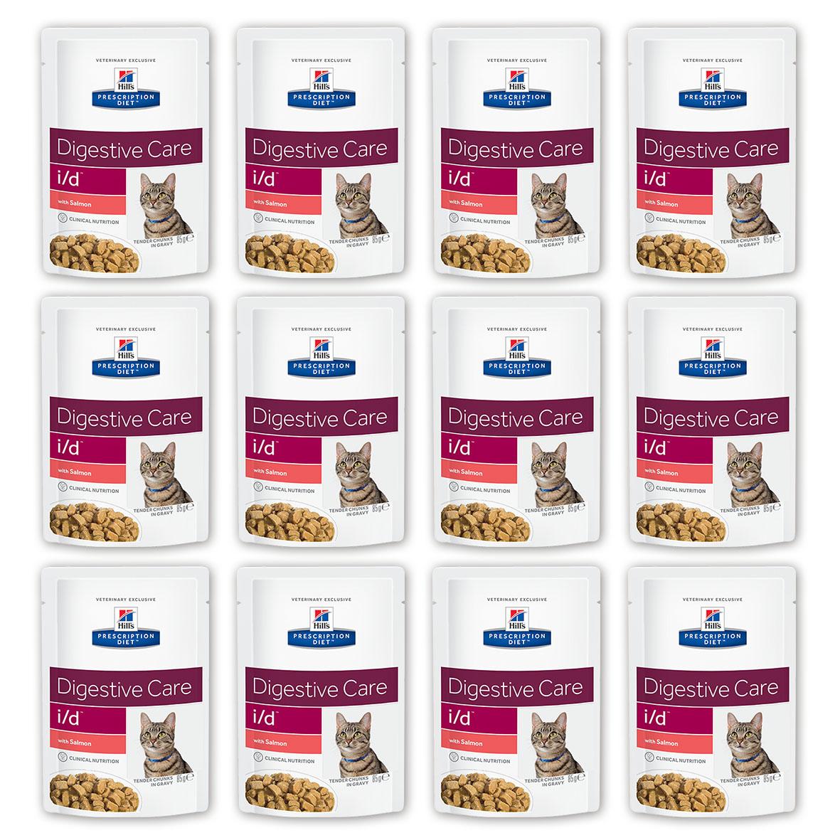Консервы Hills Prescription Diet. I/D для кошек с заболеваниями ЖКТ, с лососем, 85 г, 12 шт3409_12Консервы Hills Prescription Diet. I/D рекомендуются: - При заболеваниях желудочно-кишечного тракта: гастрите, энтерите, колите (наиболее распространенные причины диареи). - Для восстановления после хирургической операции на желудочно-кишечном тракте. - При недостаточности экзокринной функции поджелудочной железы. - При панкреатите без гиперлипидемии. - Для восстановления после легких хирургических процедур и состояний, незначительно ослабляющих организм. - Для котят в качестве повседневного питания. Обеспечивает полноценное сбалансированное питание котятам (в течение короткого периода) и взрослым кошкам. Не рекомендуется кошкам с задержкой натрия в организме. Ключевые преимущества: - Высокая перевариваемость продукта улучшает всасывание нутриентов и способствует восстановлению желудочно-кишечного тракта. - Содержание жиров снижено, что помогает уменьшить стеаторею (маслянистый стул). - Повышенное содержание...