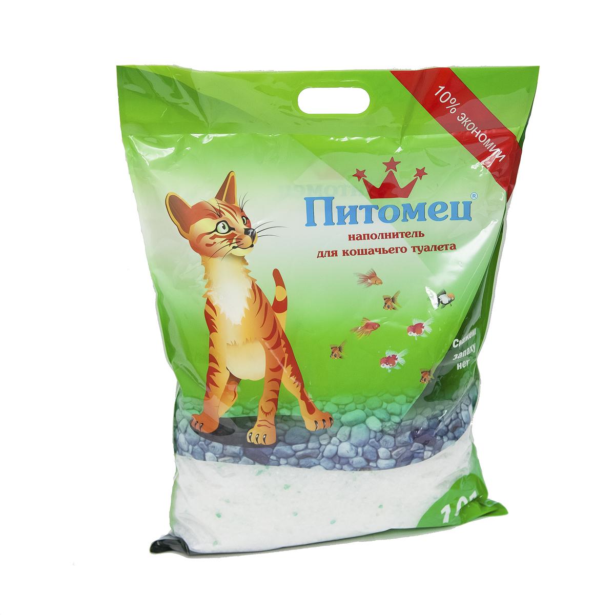 """Наполнитель для кошачьего туалета """"Питомец"""", силикагелевый, 10 л 00000000021"""