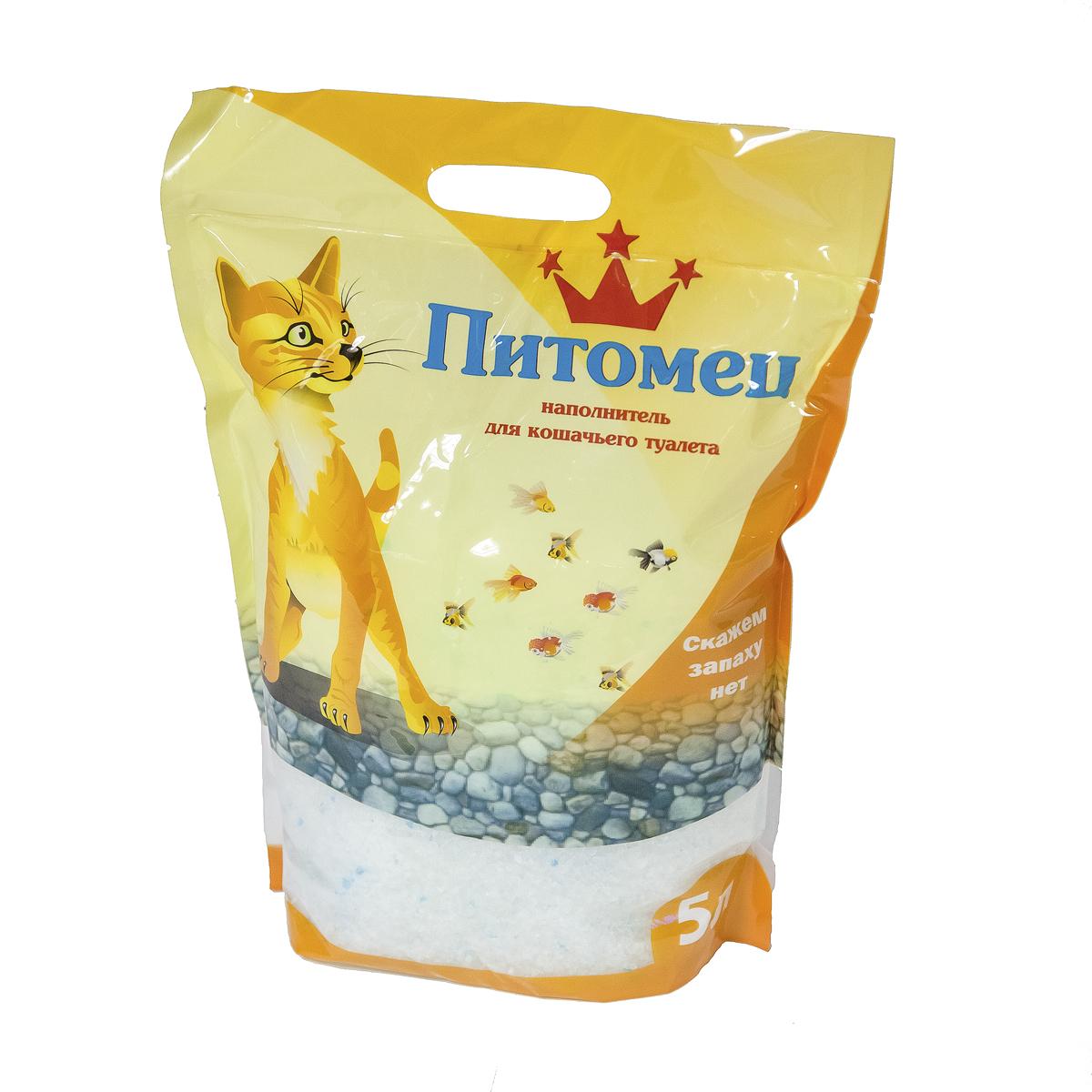 """Наполнитель для кошачьего туалета """"Питомец"""", силикагелевый, 5 л 00000000002"""