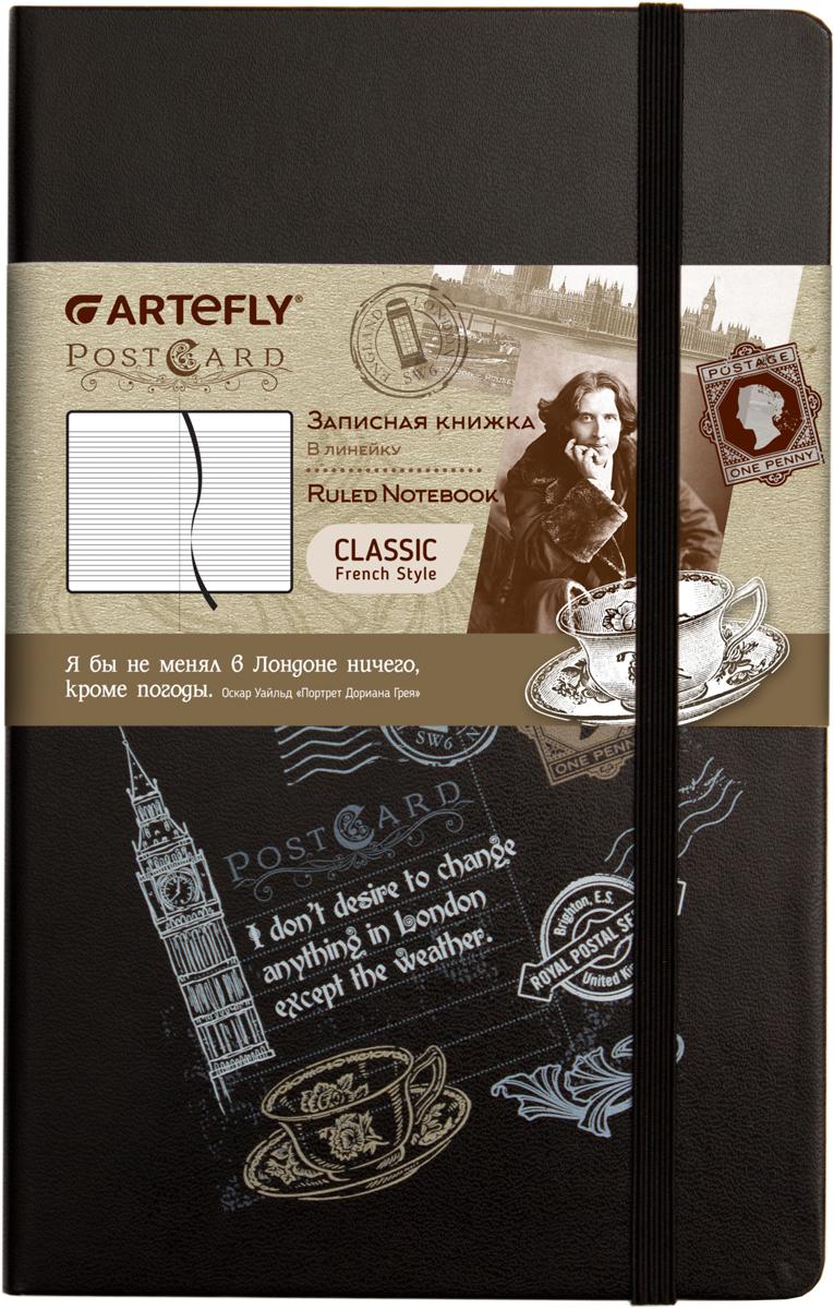 Artefly Записная книжка PostCard London 84 листа в линейкуAFNM-R7-PCLЗаписная книжка во французском стиле Artefly PostCard London будет всегда под рукой для записи нужной информации или важных мыслей. Внутренний блок состоит из 84 листов в линейку. Записная книжка имеет закругленные углы и кармашек на внутренней стороне обложки. Благодаря своему размеру книжка легко поместится в карман или небольшую сумку.