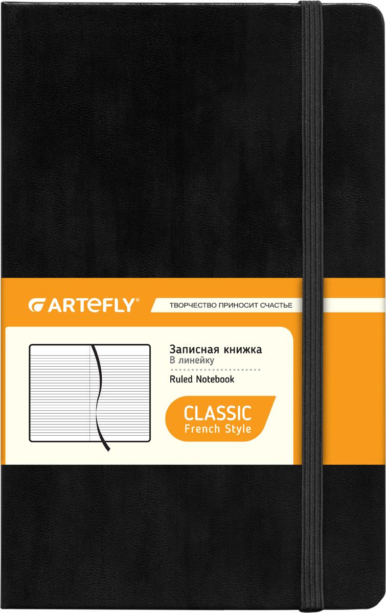 Artefly Записная книжка French style 84 листа в линейкуAFNM-R7-BKЗаписная книжка во французском стиле Artefly French style будет всегда под рукой для записи нужной информации или важных мыслей. Внутренний блок состоит из 84 листов в линейку. Записная книжка имеет закругленные углы и кармашек на внутренней стороне обложки. Благодаря своему размеру книжка легко поместится в карман или небольшую сумку.