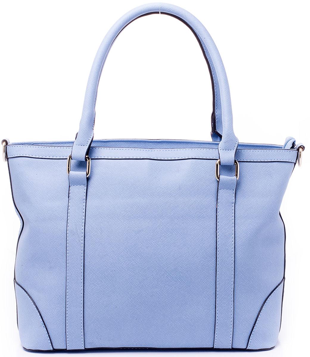 Сумка женская Renee Kler, цвет: голубой. RK7007-16RK7007-16Минималистичная сумка Renee Kler выполнена из экокожи. Изделие имеет одно вместительное отделение, закрывающееся на застежку-молнию и разграниченное надвое карманом-разделителем так же на молнии. Внутри главного отделения - два открытых накладных кармана для мелочей и вшитый карман на застежке-молнии. Сзади сумки так же находится прорезной карман на молнии. Изделие имеет две комфортные для переноски ручки на кольцах и отстегивающийся регулируемый наплечный ремень.