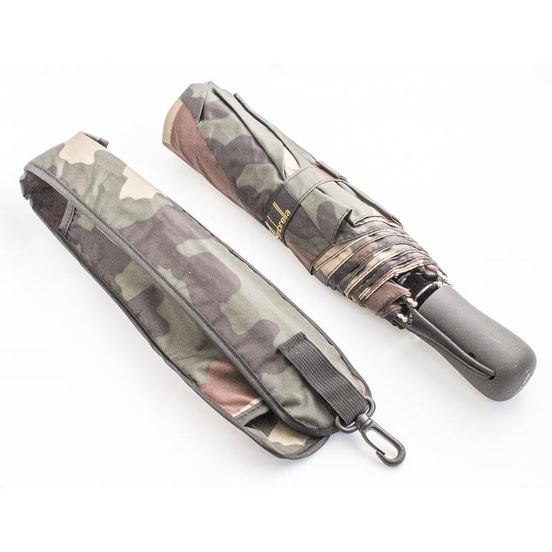 Зонт Эврика, цвет: зеленый. 9784097840Автоматический зонт двойного сложения с куполом из ткани защитной расцветки – настоящий подарок для мужчин! Крепкие широкие спицы с системой анти-ветер, прочный металлический стержень, ручка из пластика, препятствующего скольжению, растягивающаяся наручная петля, удобные кнопки складывания и раскладывания, стильный чехол из той же ткани с сеточкой и карабином для крепления зонта – все эти детали подтверждают высокое качество изделия. Материал: нейлон, металл, пластик Размер в сложенном состоянии: 30х6 см Размер купола: 105 см Длина штока в разложенном виде: 60 см.