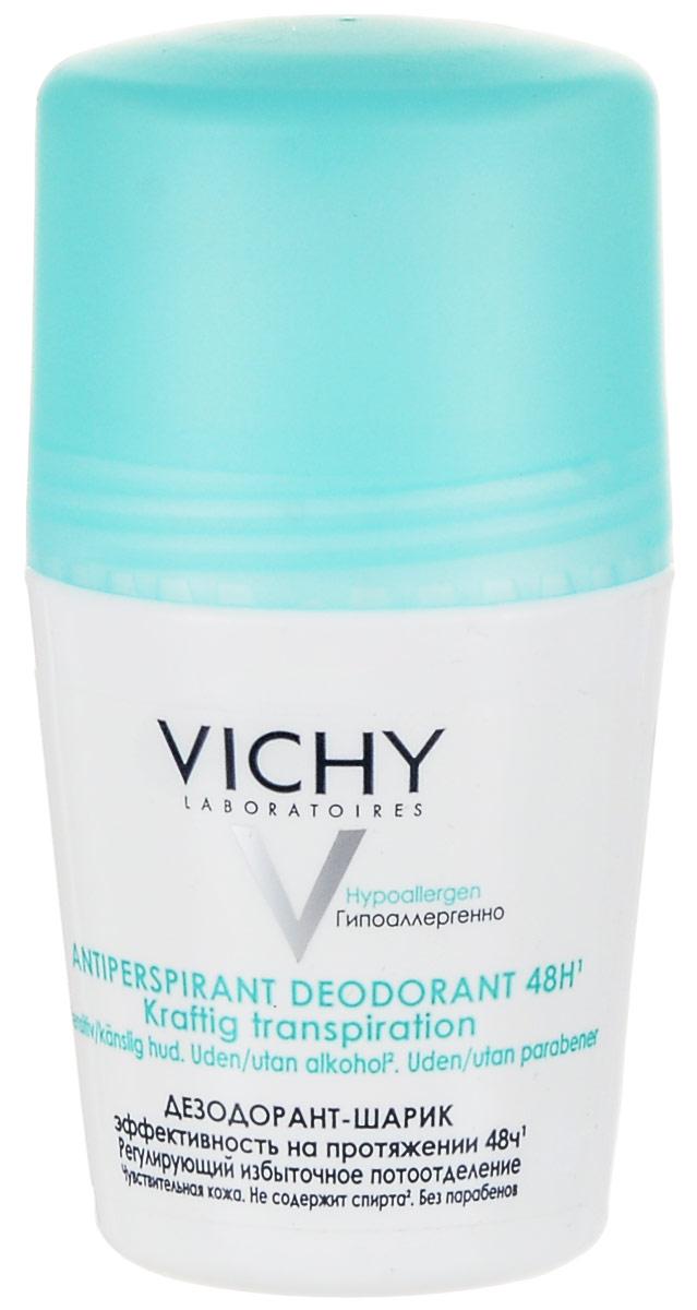 Vichy Дезодорант шариковый, регулирующий избыточное потоотделение, 50 мл vichy тональный флюид teint ideal тон 25 30 мл