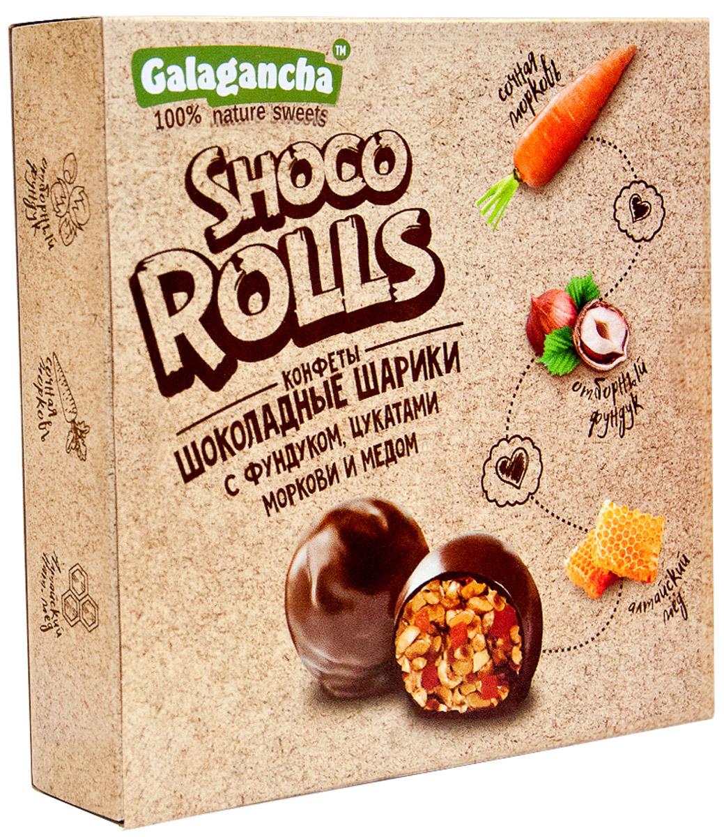 Galagancha Shoco Rolls мягкий грильяж с фундуком, 135 го0000007711100% натуральные; сниженное содержание сахара; ручная работа; идеально обжаренный фундук в сочетании с цукатами моркови сорта Шантане с настоящим алтайским медом; «GALAGANCHA» - может быть превосходным подарком, а может быть приятными минутами домашнего вечера, а может быть… Уважаемые клиенты! Обращаем ваше внимание, что полный перечень состава продукта представлен на дополнительном изображении.