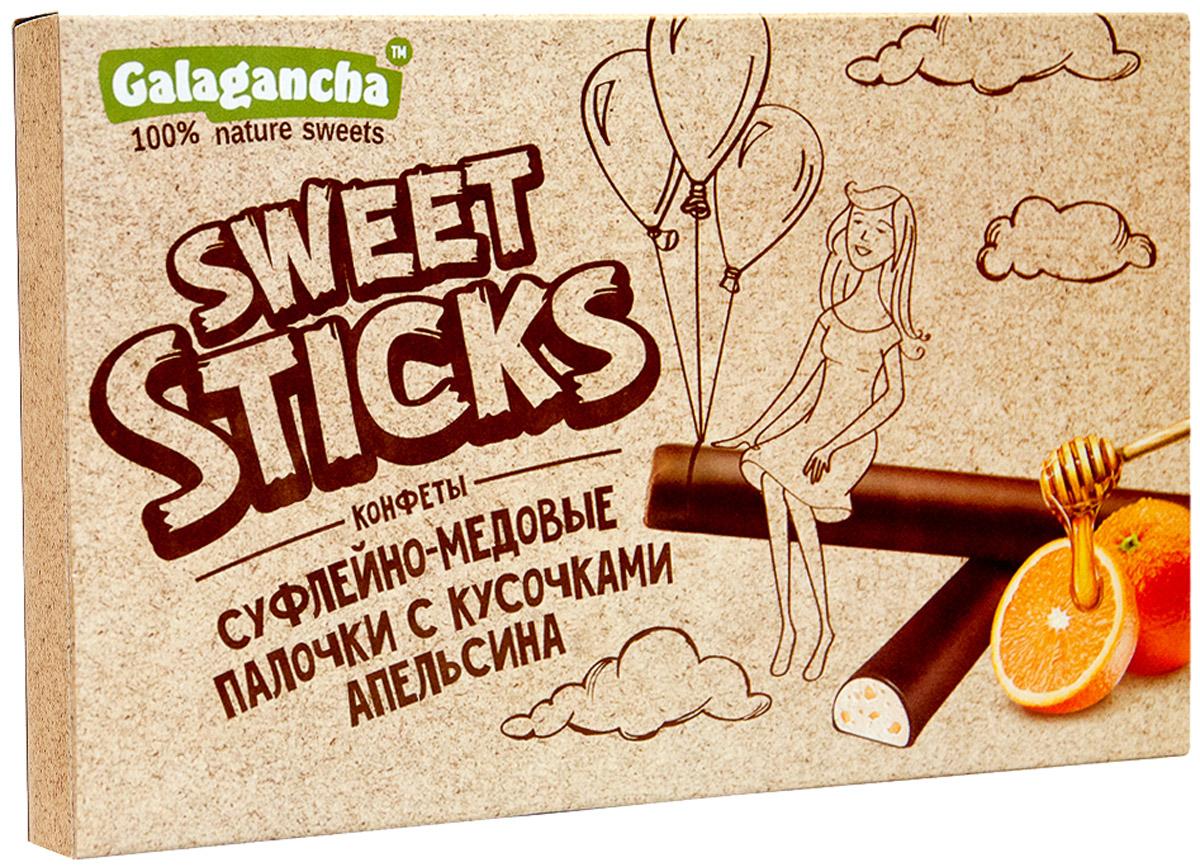 Galagancha Sweet Sticks конфеты суфлейные палочки с кусочками апельсина, 112 го0000007713100% натуральные; сниженное содержание сахара; оригинальная форма суфле; легкий десерт с кусочками цедры апельсина; «GALAGANCHA» - может быть превосходным подарком, а может быть приятными минутами домашнего вечера, а может быть … Sweet Sticks – это изысканное лакомство, очень нравится девушкам. Для тех, кто заботится о своем здоровье и форме. Уважаемые клиенты! Обращаем ваше внимание, что полный перечень состава продукта представлен на дополнительном изображении.