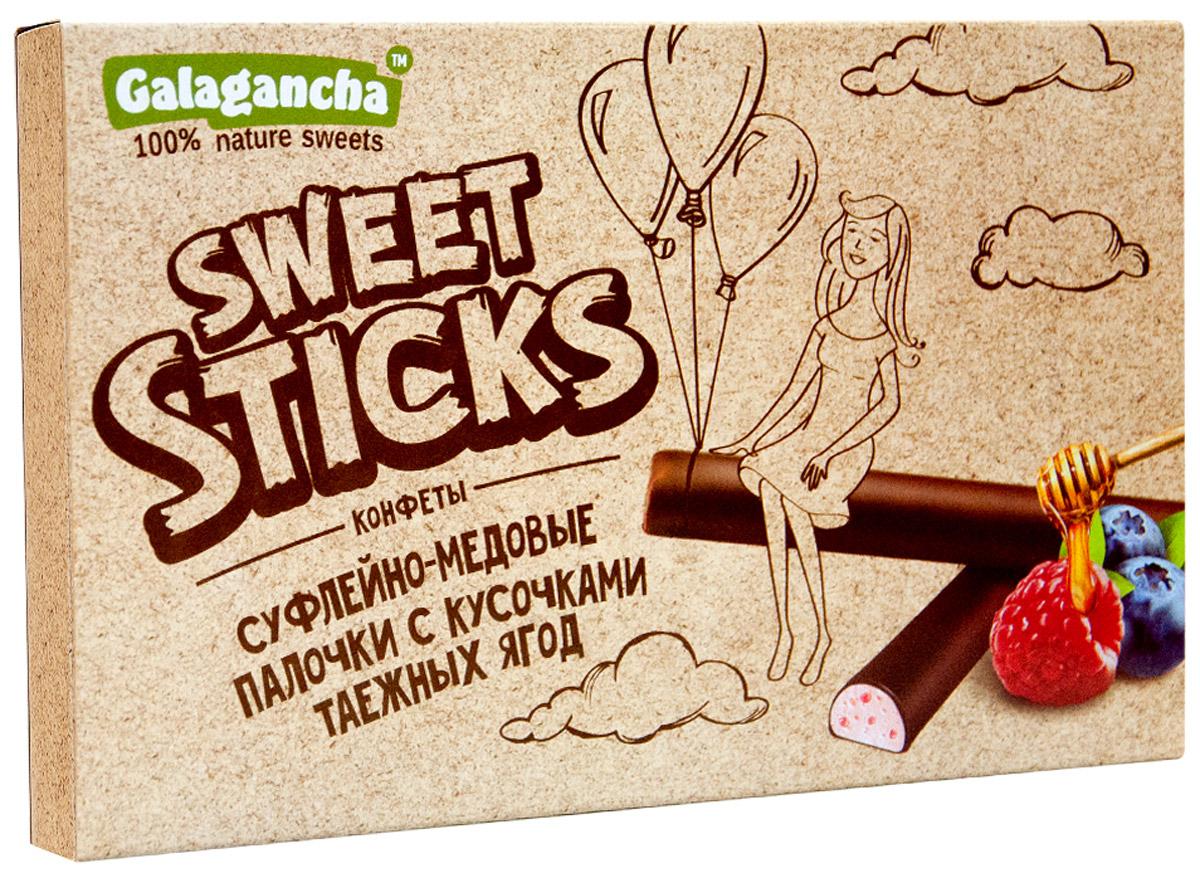 Galagancha Sweet Sticks конфеты суфлейные палочки с кусочками таежных ягод, 112 го0000007712100% натуральные; сниженное содержание сахара; оригинальная форма суфле; легкий десерт с кусочками таежных ягод; «GALAGANCHA» - может быть превосходным подарком, а может быть приятными минутами домашнего вечера, а может быть … Sweet Sticks – это изысканное лакомство, очень нравится девушкам. Для тех, кто заботится о своем здоровье и форме. Уважаемые клиенты! Обращаем ваше внимание, что полный перечень состава продукта представлен на дополнительном изображении.