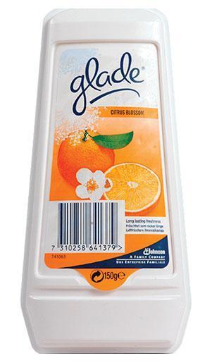 GLADE Освежитель воздуха гелевый Цитрус 150 г670708Эффективный освежитель длительного действия.Постоянно поддерживает аромат в течение 30 дней.Защитная пленка контролирует интенсивность запаха.