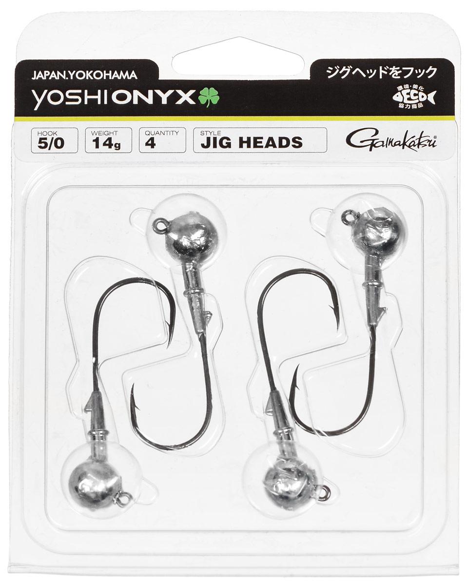 Джиг-головка Yoshi Onyx, крючок Gamakatsu 5/0, 14 г, 4 шт98010Джиг-головки Yoshi Onyx предназначены в первую очередь для донной спиннинговой ловли - джиг спиннинга. Джиг головками оснащаются всевозможные мягкие приманки: виброхвосты, твистеры, силиконовые рачки и черви. Возможно их применение и с естественными насадками, к примеру, при ловле судака бортовой удочкой на мертвую рыбку или кусочки рыбы. Джиг-головка оснащена крючком Gamakatsu. Такой крючок прекрасно пробивает жесткую пасть крупного судака, щуки и сома. Вес: 14 г. Количество: 4 шт. Крючок: Gamakatsu 5/0.