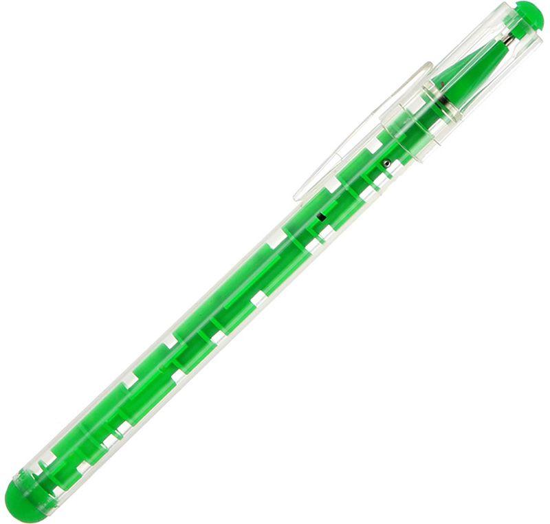 Эврика Ручка шариковая Лабиринт цвет зеленый 92940
