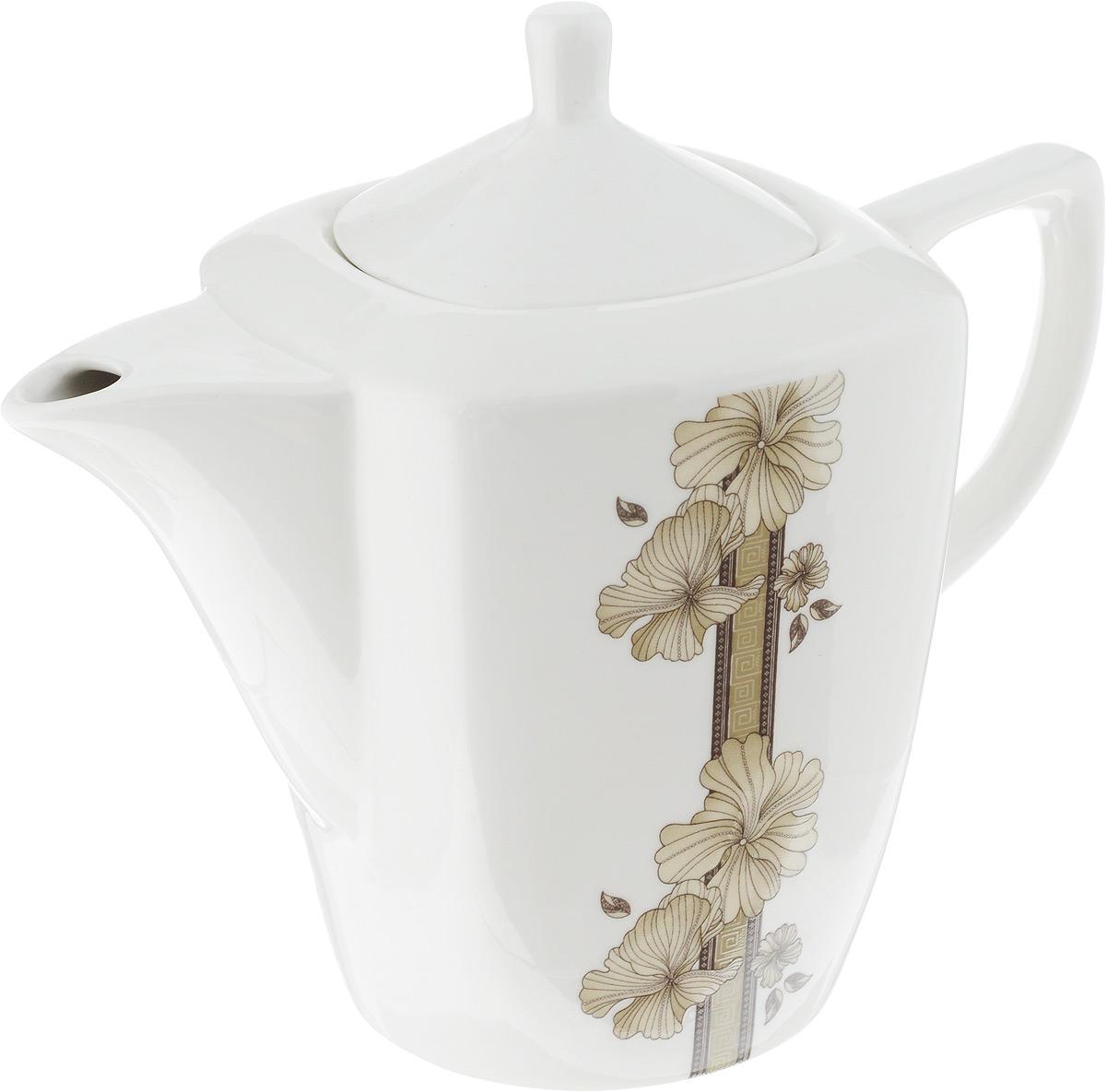 Чайник заварочный София, 1,1 л216710Заварочный чайник София изготовлен из высококачественного фарфора. Глазурованное покрытие обеспечивает легкую очистку. Изделие прекрасно подходит для заваривания вкусного и ароматного чая, а также травяных настоев. Оригинальный дизайн сделает чайник настоящим украшением стола. Он удобен в использовании и понравится каждому. Можно мыть в посудомоечной машине и использовать в микроволновой печи. Диаметр чайника (по верхнему краю): 7 см. Высота чайника (без учета крышки): 14 см. Высота чайника (с учетом крышки): 19 см.