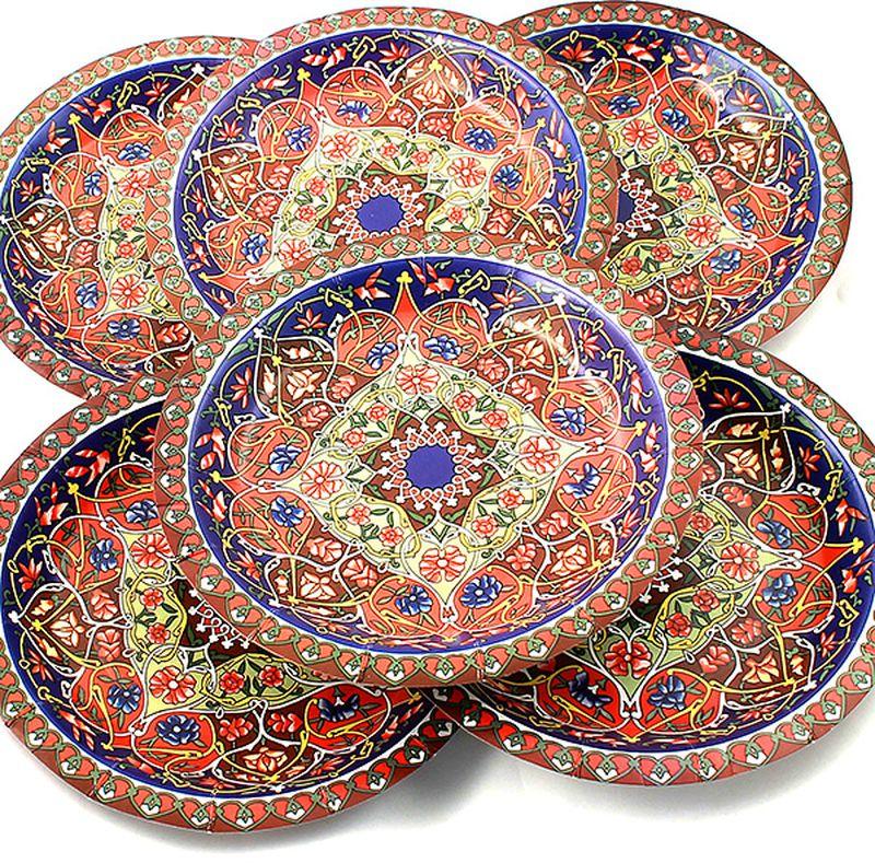 Набор тарелок Эврика Разноцветная, 6 шт96974Набор картонных тарелочек с красочным рисунком. Количество тарелочек в наборе 6 шт, диаметр тарелочки 19 см, глубина 2.5см.