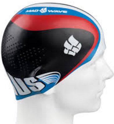 """Шапочка для плавания MadWave """"Racing"""", цвет: черный 10012402"""