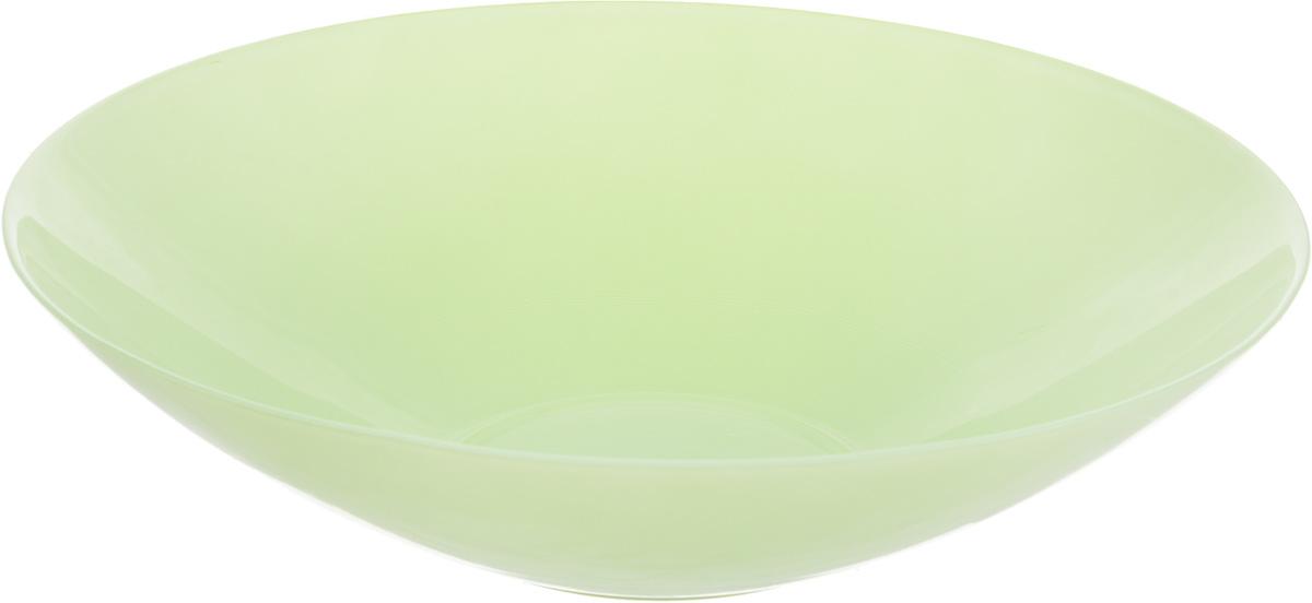 Салатник NiNaGlass Голландия, цвет: мятный, матовый, диаметр 30 см83-012-Ф30 ЗЕЛСалатник NiNaGlass Голландия выполнен из высококачественного стекла. Салатник идеален для сервировки салатов, овощей, ягод, фруктов, гарниров и многого другого. Он отлично подойдет как для повседневных, так и для торжественных случаев. Такой салатник прекрасно впишется в интерьер вашей кухни и станет достойным дополнением к кухонному инвентарю. Диаметр салатника (по верхнему краю): 30 см. Высота стенки: 7,5 см.