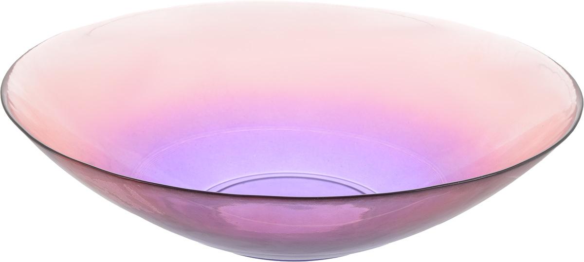 Салатник NiNaGlass Голландия, цвет: розово-фиолетовый, диаметр 30 см83-012-Ф30 Р-ФИОЛСалатник NiNaGlass Голландия выполнен из высококачественного стекла. Салатник идеален для сервировки салатов, овощей, ягод, фруктов, гарниров и многого другого. Он отлично подойдет как для повседневных, так и для торжественных случаев. Такой салатник прекрасно впишется в интерьер вашей кухни и станет достойным дополнением к кухонному инвентарю. Диаметр салатника (по верхнему краю): 30 см. Высота стенки: 7,5 см.