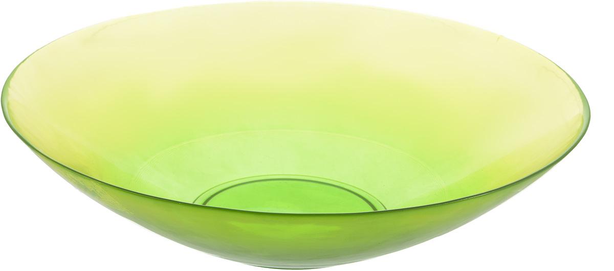 Салатник NiNaGlass Голландия, цвет: желто-зеленый, диаметр 30 см83-012-Ф30 Ж-ЗСалатник NiNaGlass Голландия выполнен из высококачественного стекла. Салатник идеален для сервировки салатов, овощей, ягод, фруктов, гарниров и многого другого. Он отлично подойдет как для повседневных, так и для торжественных случаев. Такой салатник прекрасно впишется в интерьер вашей кухни и станет достойным дополнением к кухонному инвентарю. Диаметр салатника (по верхнему краю): 30 см. Высота стенки: 7,5 см.