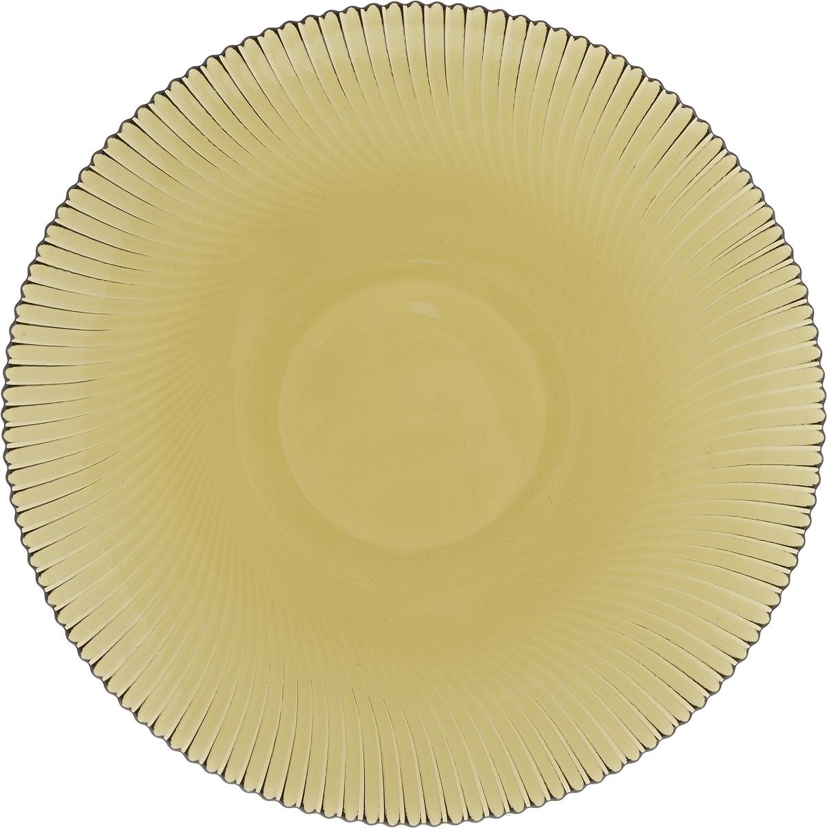 Тарелка NiNaGlass Альтера, цвет: дымчатый, диаметр 26 см83-067-ф260 ДЫМТарелка NiNaGlass Альтера выполнена из высококачественного стекла и оформлена красивым рельефным узором. Тарелка идеальна для подачи вторых блюд, а также сервировки закусок, нарезок, десертов и многого другого. Она отлично подойдет как для повседневных, так и для торжественных случаев. Такая тарелка прекрасно впишется в интерьер вашей кухни и станет достойным дополнением к кухонному инвентарю.
