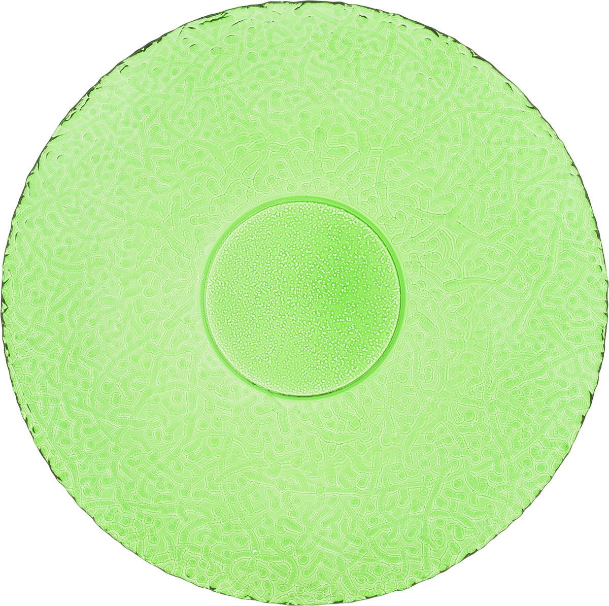 Тарелка NiNaGlass Ажур, цвет: зеленый, диаметр 26 см83-071-Ф260 ЗЕЛТарелка NiNaGlass Ажур выполнена из высококачественного стекла и имеет рельефную внешнюю поверхность. Она прекрасно впишется в интерьер вашей кухни и станет достойным дополнением к кухонному инвентарю. Тарелка NiNaGlass Ажур подчеркнет прекрасный вкус хозяйки и станет отличным подарком. Диаметр тарелки: 26 см. Высота: 3 см.