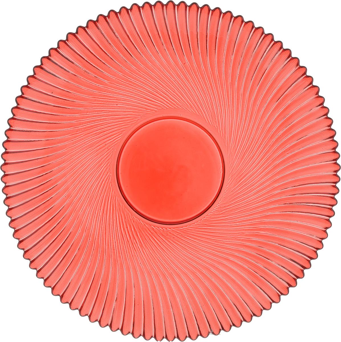 Тарелка NiNaGlass Альтера, цвет: рубиновый, диаметр 21 см83-066-ф210 РУБТарелка NiNaGlass Альтера выполнена из высококачественного стекла и оформлена красивым рельефным узором. Тарелка идеальна для подачи вторых блюд, а также сервировки закусок, нарезок, десертов и многого другого. Она отлично подойдет как для повседневных, так и для торжественных случаев. Такая тарелка прекрасно впишется в интерьер вашей кухни и станет достойным дополнением к кухонному инвентарю.
