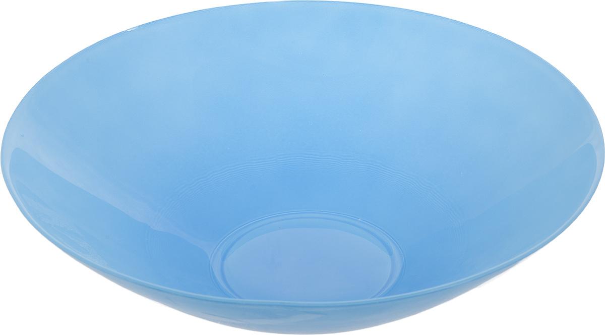 Салатник NiNaGlass Голландия, цвет: голубой, диаметр 25 см83-012-Ф25 ГОЛСалатник NiNaGlass Голландия выполнен из высококачественного матового стекла. Салатник идеален для сервировки салатов, овощей, ягод, фруктов, гарниров и многого другого. Он отлично подойдет как для повседневных, так и для торжественных случаев. Такой салатник прекрасно впишется в интерьер вашей кухни и станет достойным дополнением к кухонному инвентарю. Диаметр салатника (по верхнему краю): 25 см. Высота стенки: 7,5 см.