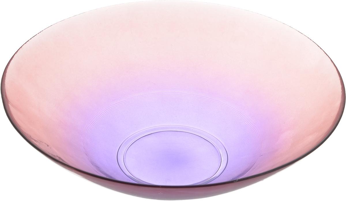 Салатник NiNaGlass Голландия, цвет: розово-фиолетовый, диаметр 25 см83-012-ф25 ПРОЗ. Р-ФСалатник NiNaGlass Голландия выполнен из высококачественного стекла и идеален для сервировки салатов, овощей, ягод, фруктов, гарниров и многого другого. Он отлично подойдет как для повседневных, так и для торжественных случаев. Такой салатник прекрасно впишется в интерьер вашей кухни и станет достойным дополнением к кухонному инвентарю. Диаметр салатника (по верхнему краю): 25 см. Высота стенки: 7,5 см.