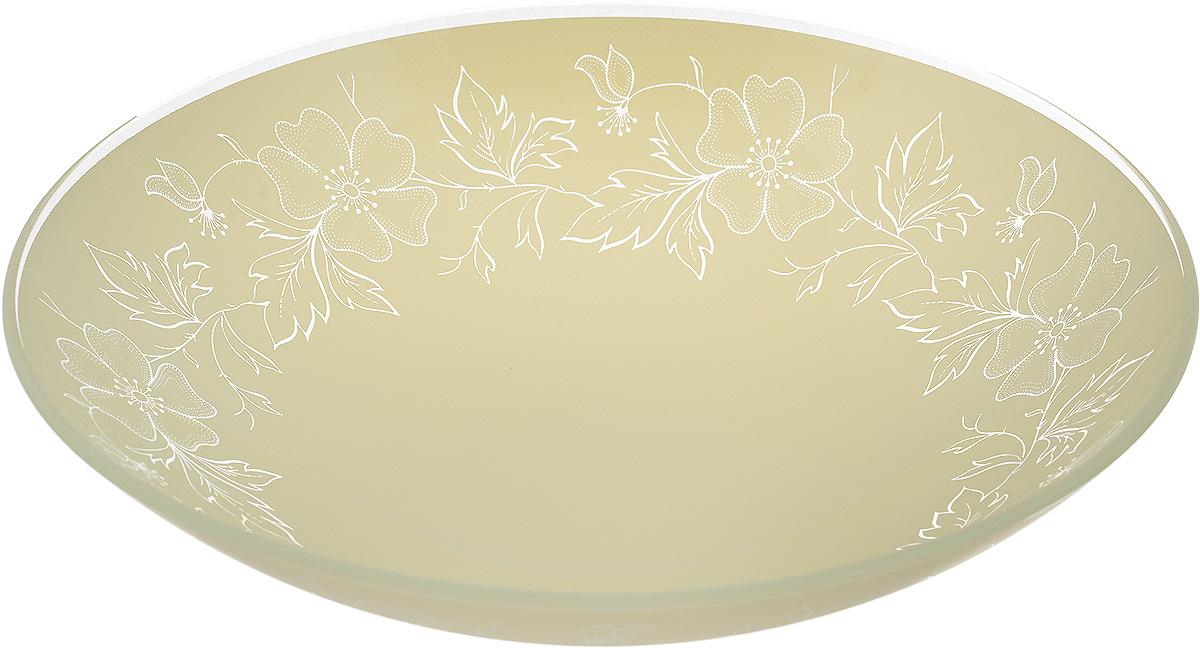 Тарелка глубокая NiNaGlass Лара, цвет: светло-бежевый, диаметр 22 см85-225-075/белТарелка NiNaGlass Лара выполнена из высококачественного стекла и оформлена цветочным узором. Она прекрасно впишется в интерьер вашей кухни и станет достойным дополнением к кухонному инвентарю. Тарелка NiNaGlass Лара подчеркнет прекрасный вкус хозяйки и станет отличным подарком. Диаметр тарелки: 22 см. Высота: 5 см.