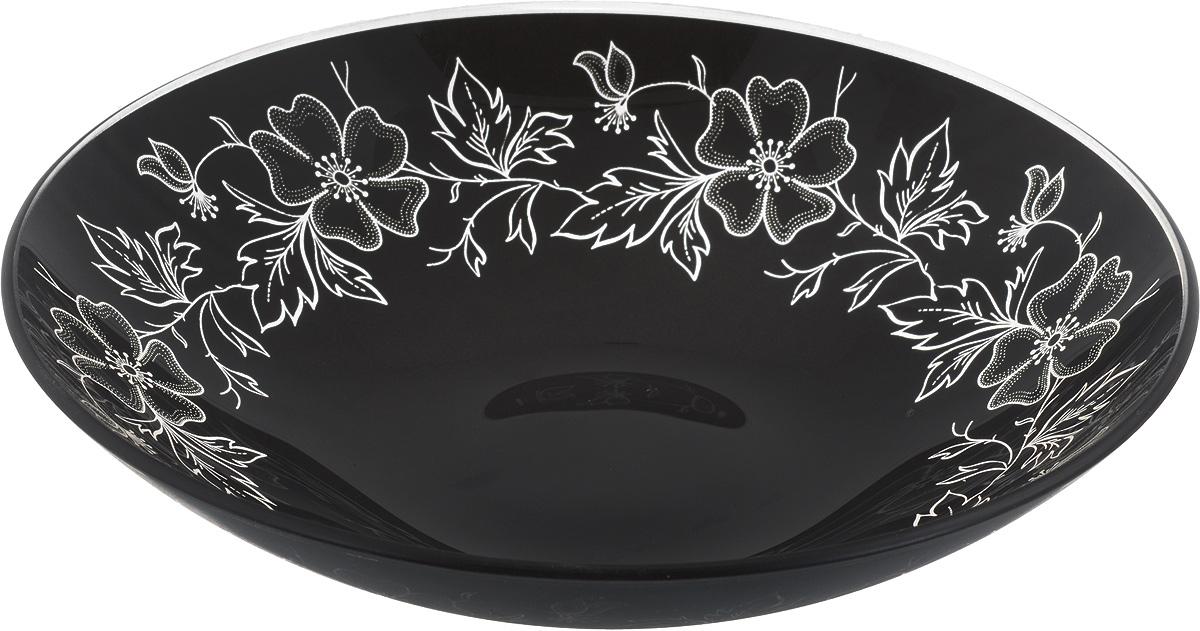 Тарелка глубокая NiNaGlass Лара, цвет: черный, диаметр 22 см85-225-075/чернТарелка NiNaGlass Лара выполнена из высококачественного стекла и оформлена цветочным узором. Она прекрасно впишется в интерьер вашей кухни и станет достойным дополнением к кухонному инвентарю. Тарелка NiNaGlass Лара подчеркнет прекрасный вкус хозяйки и станет отличным подарком. Диаметр тарелки: 22 см. Высота: 5 см.