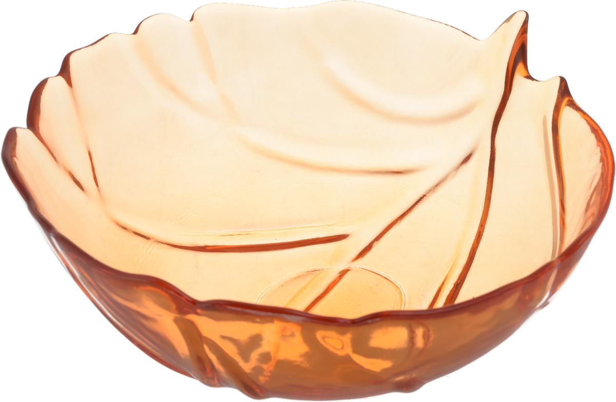 Салатник NiNaGlass Флори, цвет: оранжевый, диаметр 20 см83-033-Ф200 ОРЖСалатник NiNaGlass Флори выполнен из высококачественного стекла и декорирован рельефным узором. Он подойдет для сервировки стола, как для повседневных, так и для торжественных случаев. Такой салатник прекрасно впишется в интерьер вашей кухни и станет достойным дополнением к кухонному инвентарю. Подчеркнет прекрасный вкус хозяйки и станет отличным подарком. Диаметр салатника (по верхнему краю): 20 см. Высота: 8 см.