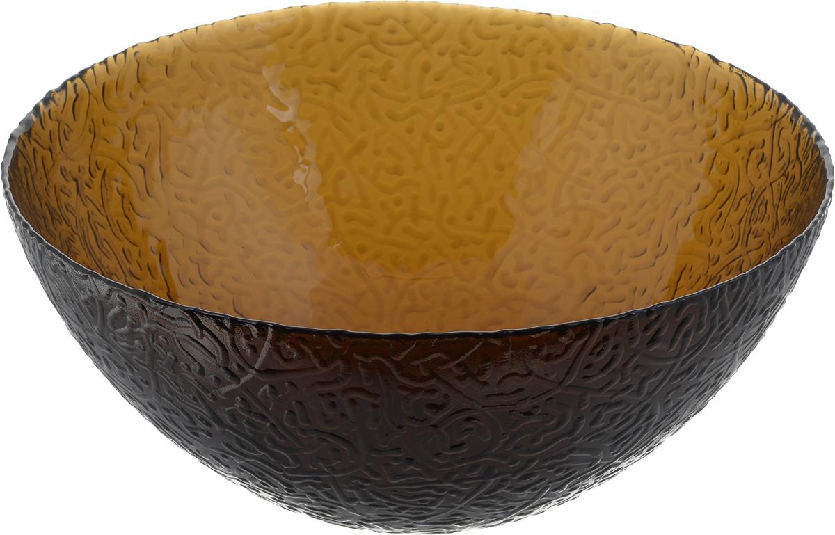 Салатник NiNaGlass Ажур, цвет: коричневый, диаметр 25 см83-043-ф250 ДЫМСалатник NiNaGlass Ажур выполнен из высококачественного стекла и декорирован рельефным узором. Он подойдет для сервировки стола, как для повседневных, так и для торжественных случаев. Такой салатник прекрасно впишется в интерьер вашей кухни и станет достойным дополнением к кухонному инвентарю. Подчеркнет прекрасный вкус хозяйки и станет отличным подарком. Диаметр салатника (по верхнему краю): 25 см. Высота: 10,5 см.