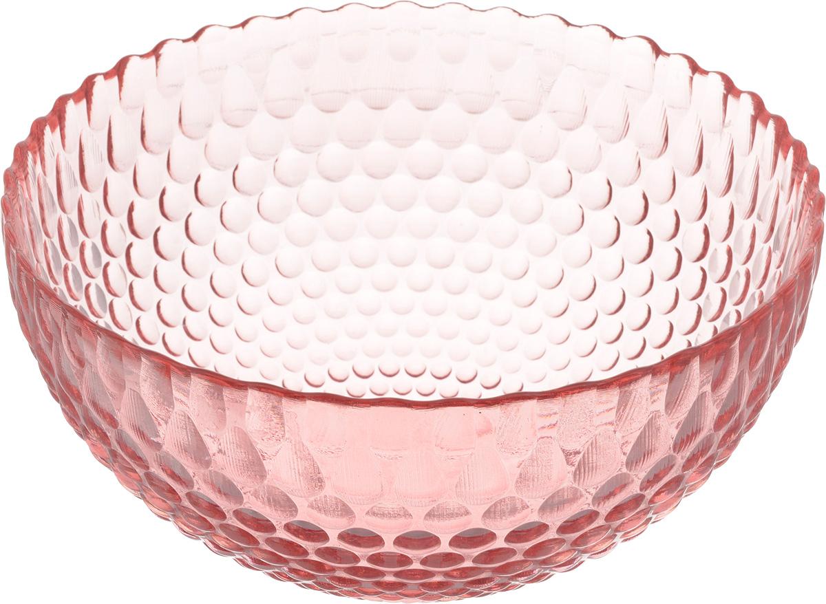 Салатник NiNaGlass Роса, цвет: розовый, диаметр 21 см83-060-Ф210 РОЗСалатник NiNaGlass Роса выполнен из высококачественного стекла и декорирован рельефным узором. Он подойдет для сервировки стола, как для повседневных, так и для торжественных случаев. Такой салатник прекрасно впишется в интерьер вашей кухни и станет достойным дополнением к кухонному инвентарю. Подчеркнет прекрасный вкус хозяйки и станет отличным подарком. Диаметр салатника (по верхнему краю): 21 см. Высота: 10 см.