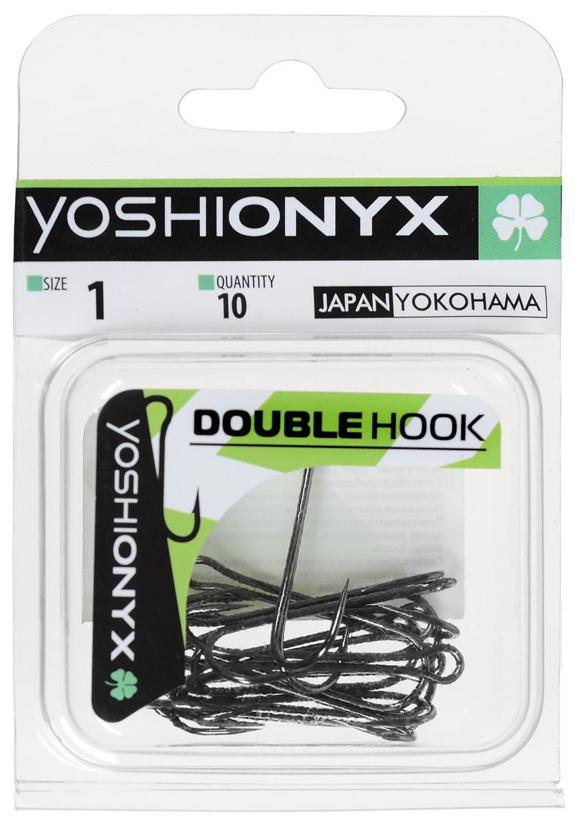 Крючок двойной Yoshi Onyx Double Hook, №1, 10 шт. BN87187Двойные крючки Yoshi Onyx Double Hook с нормальной длиной цевья достаточно универсальные и могут использоваться в самых разнообразных видах рыбной ловли. Острая лазерная заточка и сверхпрочная закаленная сталь предотвратит разгибание или обламывание крючка и сход рыбы.