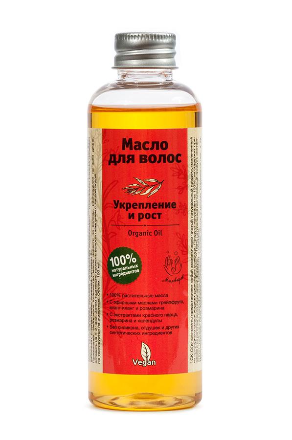 Мыловаров Масло для волос Укрепление и рост, 100млMYL-УТ000001960Это волшебное масло для волос создано в лучших традициях веганов, с использованием только натуральных растительных ингредиентов. Оно вобрало в себя свежесть золотистого грейпфрута, таинственность иланг-иланга, а также целебную силу календулы и розмарина. Содержит экстракт красного перца для ускорения роста волос. Всего несколько капель этого масла наполнят силой и здоровым блеском каждый волос вашей прически. Роскошь шикарной прически теперь доступна, как никогда!
