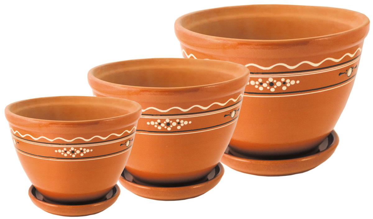 Цветочник Ломоносовская керамика Конус. Диаметр: 22 см. 3Цк3-33Цк3-3