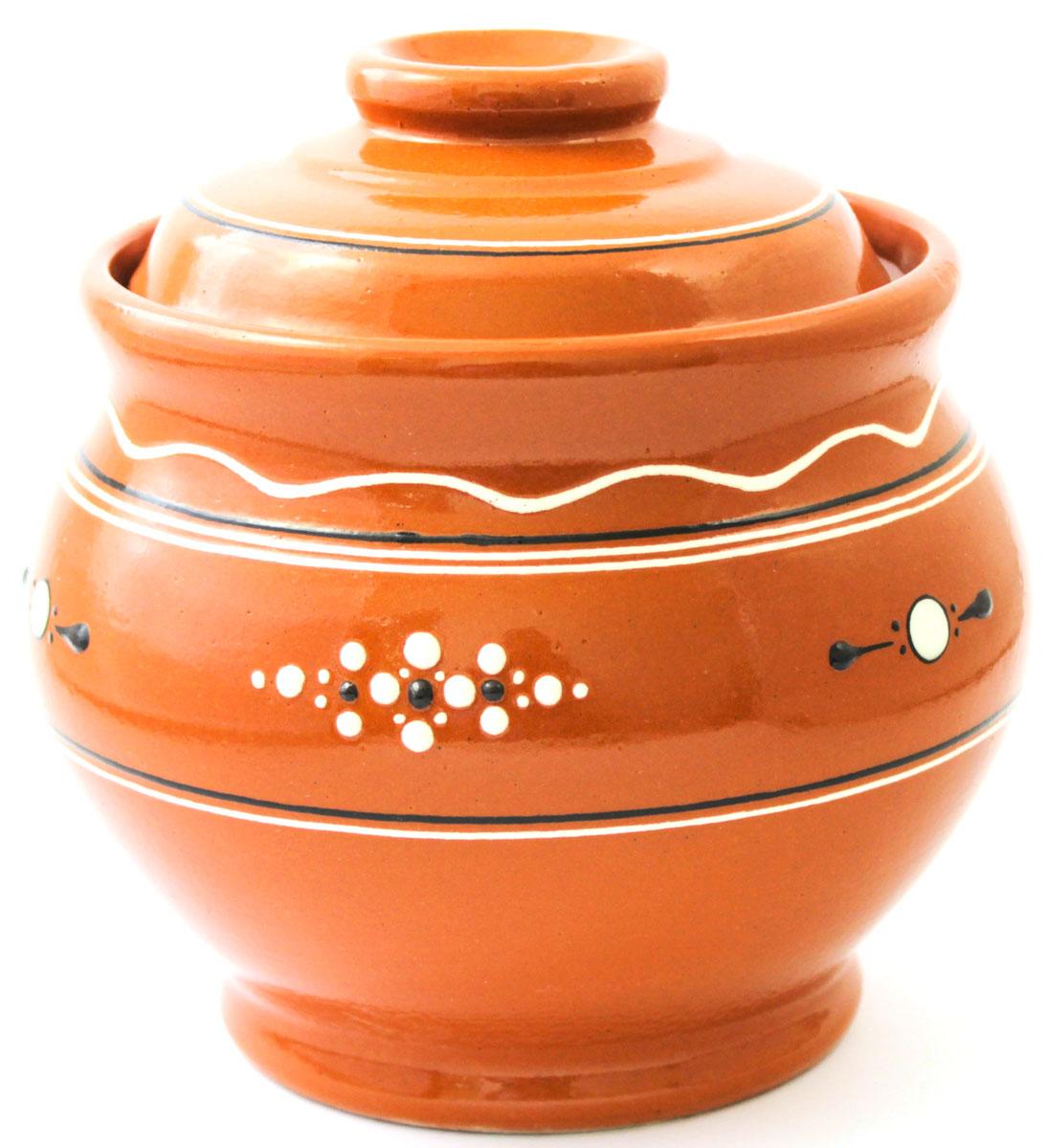 Горшок для запекания Ломоносовская керамика Кашник, с крышкой, 1,8 лЛ0727Горшок для запекания Ломоносовская керамика с крышкой выполнен из высококачественной глины. Уникальные свойства глины и толстые стенки изделия обеспечивают эффект русской печи при приготовлении блюд. Блюда, приготовленные в керамическом горшке, получаются нежными и сочными. Вы сможете приготовить мясо, сделать томленые овощи и все это без капли масла. Это один из самых здоровых способов готовки.