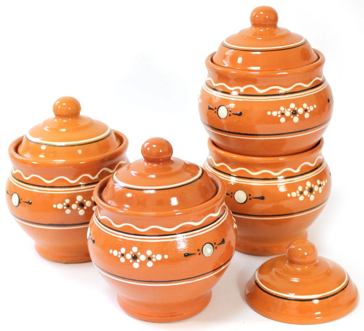 Набор горшочков Ломоносовская керамика Горшенятко, 4 штЛ0879