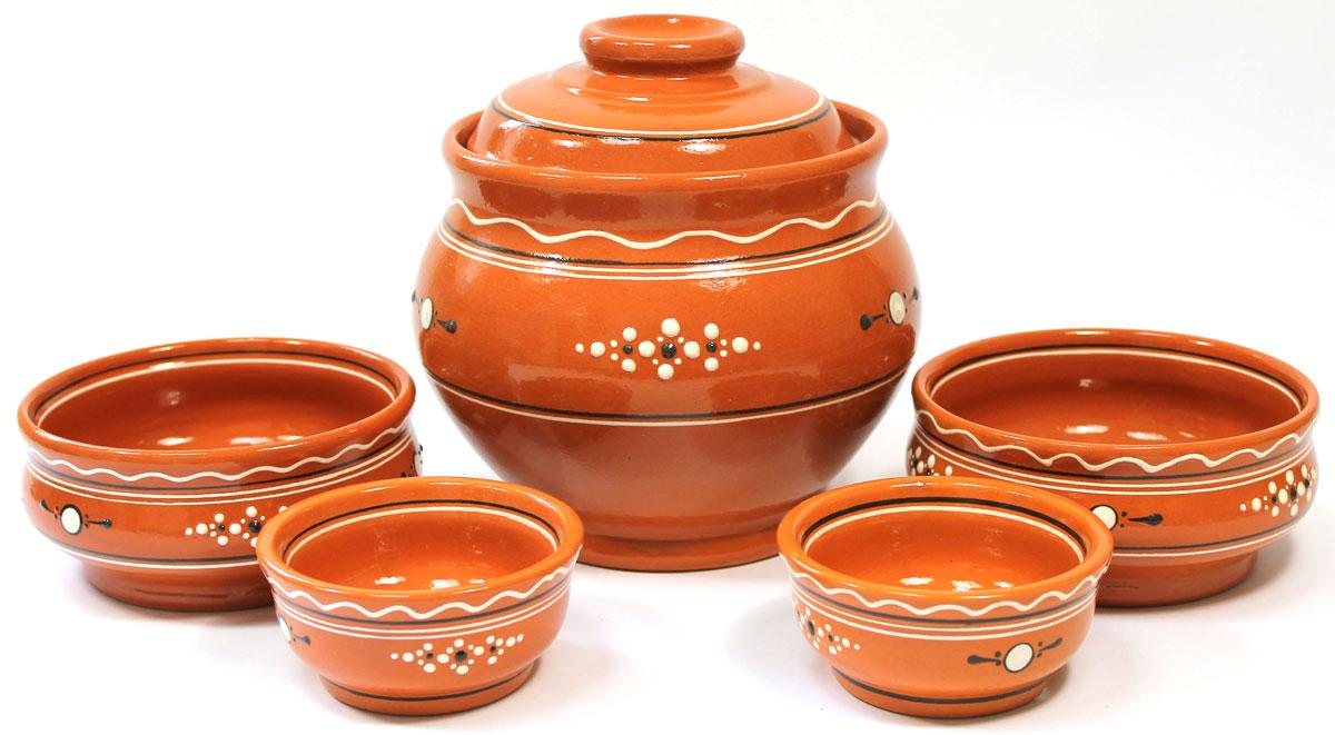 Набор для каши с розетками Ломоносовская керамика, 5 штЛ0882