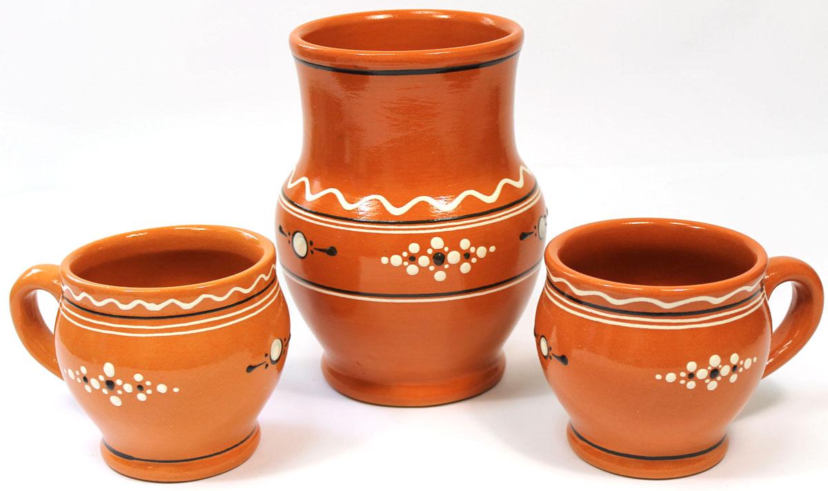 Набор для молока Ломоносовская керамика, 3 штЛ0875