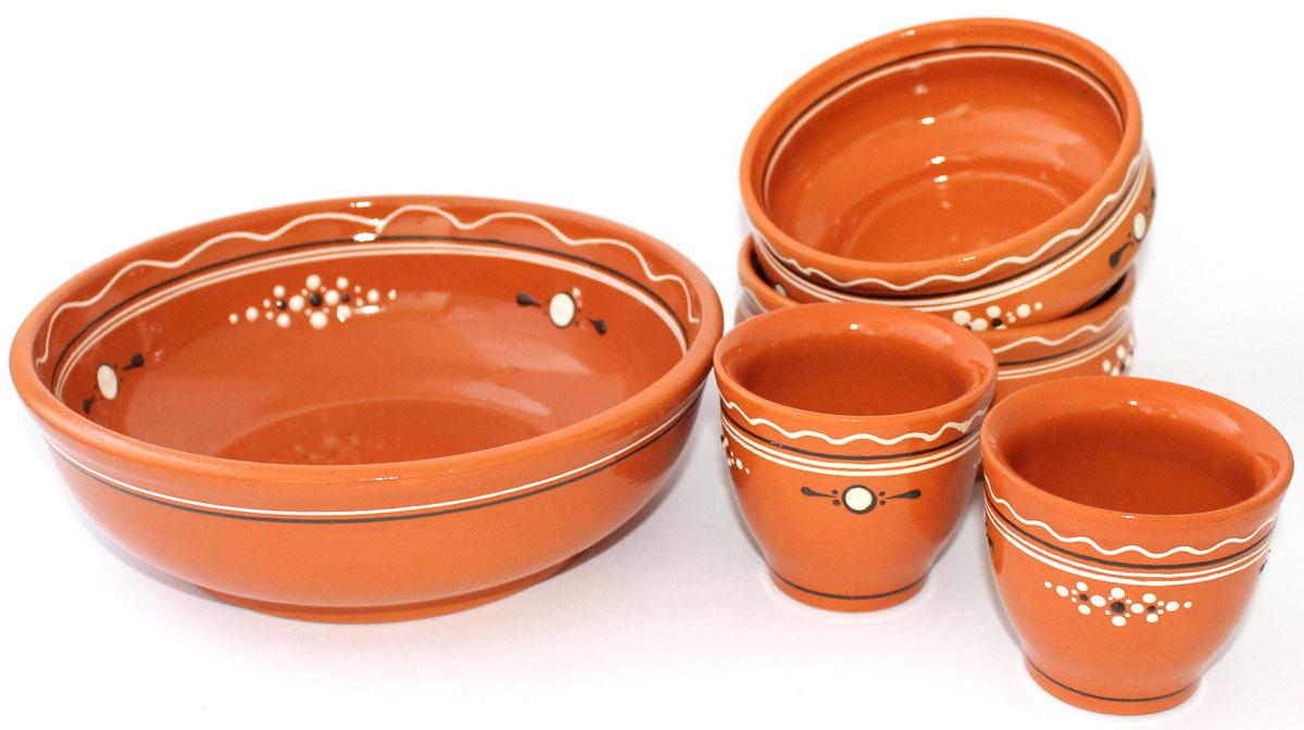 Набор мисок Ломоносовская керамика, с солонками, 5 штЛ0883