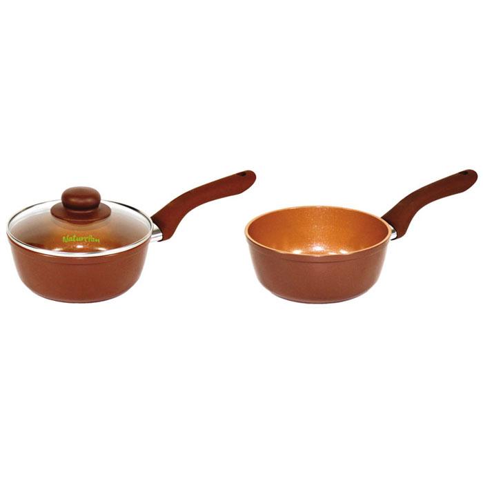 Ковш NaturePan Ceramic без крышки, с керамическим покрытием, 1 лCrS16/бкКовш NaturePan Ceramic выполнен из высококачественного алюминия с антипригарным керамическим покрытием. Покрытие абсолютно безопасно для здоровья, не содержит вредных веществ. Керамическое покрытие позволит вам готовить вкусную и здоровую еду с минимальным добавлением масла и жира. Усиленное кованное дно обеспечивает равномерное распределение тепла по всей поверхности ковша, что улучшает качество приготовленной пищи. Ковш оснащен удобной пластиковой ручкой с противоскользящим покрытием, которая не нагревается.