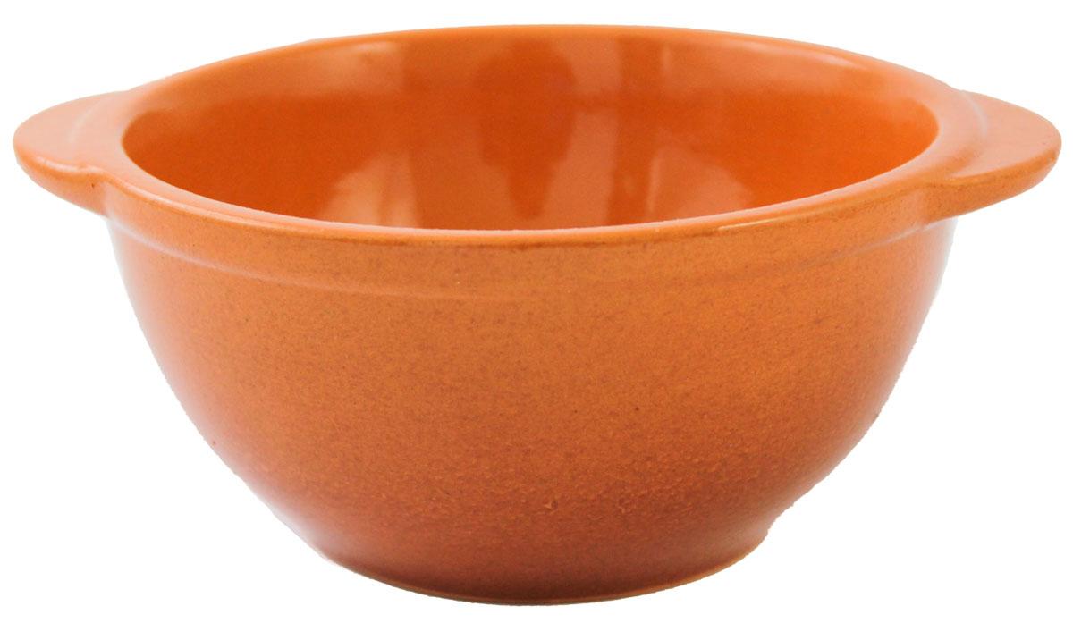 Бульонница Ломоносовская керамика, цвет: оранжевый, 500 мл1Бу3-1Бульонница Ломоносовская керамика, изготовленная из высококачественной глины, оснащена двумя ручками для удобной переноски. Такая стильная бульонница украсит сервировку вашего стола и подчеркнет прекрасный вкус хозяина, а также станет отличным подарком.